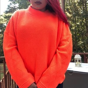 Neon Orange ASOS Comfy Sweater
